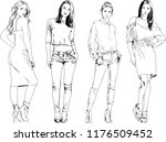vector drawings on the theme of ... | Shutterstock .eps vector #1176509452