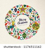 merry christmas and happy new... | Shutterstock .eps vector #1176511162