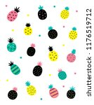 cute pineapples with different... | Shutterstock .eps vector #1176519712