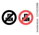 abc cube ban  prohibition icon. ...