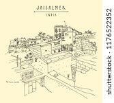 jaisalmer  rajasthan  india....   Shutterstock .eps vector #1176522352