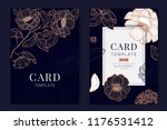 metallic wedding invitation ... | Shutterstock .eps vector #1176531412