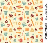 seamless pattern on the theme... | Shutterstock .eps vector #1176531622