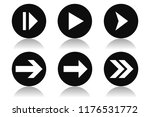 arrow icons. round black icons...   Shutterstock . vector #1176531772