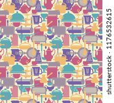 seamless vector pattern with... | Shutterstock .eps vector #1176532615