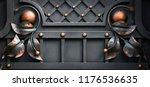 wrought iron gates  ornamental... | Shutterstock . vector #1176536635
