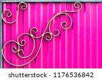 beautiful decorative metal... | Shutterstock . vector #1176536842