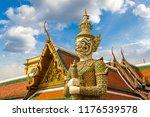demon guardian in wat phra kaew ...   Shutterstock . vector #1176539578