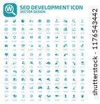 search engine optimisation... | Shutterstock .eps vector #1176543442
