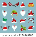 christmas accessories. santa... | Shutterstock .eps vector #1176543985