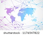 global network connection.... | Shutterstock .eps vector #1176547822