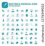 doctor and medical vector icon... | Shutterstock .eps vector #1176549022
