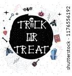 happy halloween party poster... | Shutterstock .eps vector #1176556192