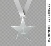 a glass star. reward. glass... | Shutterstock .eps vector #1176558292