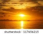 sunset sky  thailand. | Shutterstock . vector #117656215