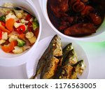 special fried fish and...   Shutterstock . vector #1176563005