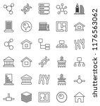thin line vector icon set  ... | Shutterstock .eps vector #1176563062