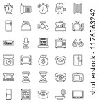 thin line vector icon set  ... | Shutterstock .eps vector #1176563242