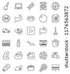 thin line vector icon set  ... | Shutterstock .eps vector #1176563872