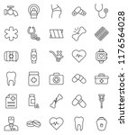 thin line vector icon set  ... | Shutterstock .eps vector #1176564028