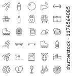 thin line vector icon set  ... | Shutterstock .eps vector #1176564085