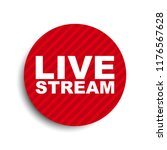 red circle banner element live... | Shutterstock .eps vector #1176567628