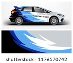 car wrap.  modern company car... | Shutterstock .eps vector #1176570742