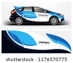car wrap.  modern company car... | Shutterstock .eps vector #1176570775