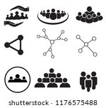 set of team work icon on white... | Shutterstock .eps vector #1176575488
