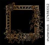 golden floral frame template.... | Shutterstock .eps vector #1176583312