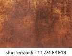 grunge rusted metal texture ... | Shutterstock . vector #1176584848