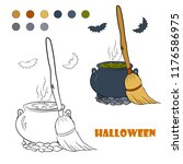 coloring book page for children ... | Shutterstock .eps vector #1176586975