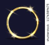 vector golden ring. light... | Shutterstock .eps vector #1176589675