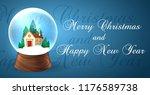 snowglobe banner for xmas...   Shutterstock .eps vector #1176589738