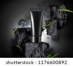 blank plastic tube with bamboo... | Shutterstock .eps vector #1176600892
