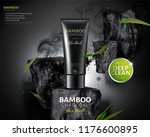 bamboo charcoal face wash ads... | Shutterstock .eps vector #1176600895
