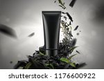 blank cosmetic plastic tube in... | Shutterstock .eps vector #1176600922