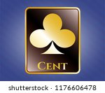 gold shiny badge with poker... | Shutterstock .eps vector #1176606478