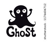 ghost. halloween theme.... | Shutterstock .eps vector #1176606712