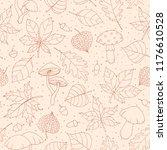 vector autumn seamless pattern... | Shutterstock .eps vector #1176610528