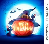 halloween pumpkin. jack o... | Shutterstock .eps vector #1176611272