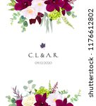 luxury fall flowers vector... | Shutterstock .eps vector #1176612802