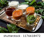 set of various sauces   Shutterstock . vector #1176618472