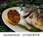 fried dorado stuffed with...   Shutterstock . vector #1176618478