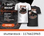 t shirt template  fully...   Shutterstock .eps vector #1176623965