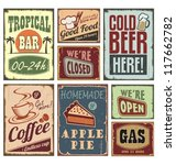 vintage metal style signs.... | Shutterstock .eps vector #117662782