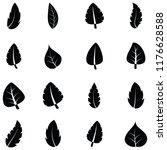 leaf icon set | Shutterstock .eps vector #1176628588