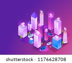 futuristic smart city concept ... | Shutterstock .eps vector #1176628708