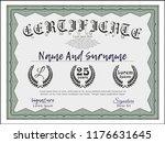 green classic certificate... | Shutterstock .eps vector #1176631645
