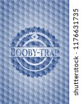 booby trap blue emblem or badge ... | Shutterstock .eps vector #1176631735